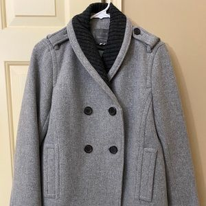 J. Crew Stadium Cloth Sasha Gray Coat